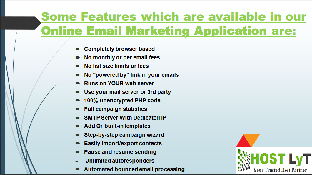 Email Server With Email Marketing Application | HOSTLyT